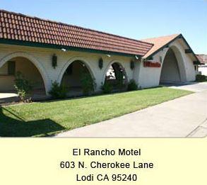 el rancho motel lodi CA